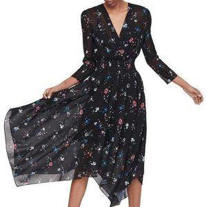 MAJE Rayema Floral Aline V-neck Dress